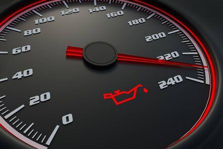 Spia olio sul cruscotto dell'auto