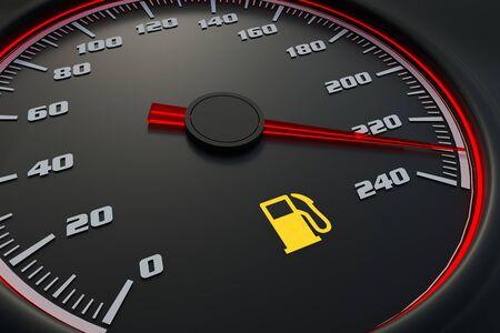 Fuel empty on car dashboard