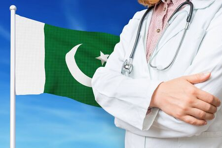 Medical system of health care in the Pakistan. 3D rendered illustration.