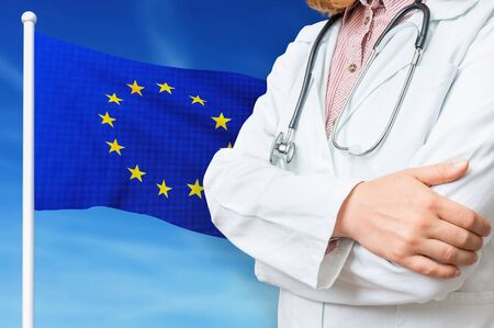 Medical system of health care in the European Union. 3D rendered illustration. Stockfoto