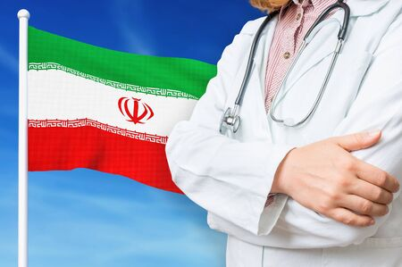 Medical system of health care in the Iran. 3D rendered illustration.