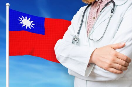 Medical system of health care in the Taiwan. 3D rendered illustration.