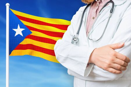 Medical system of health care in the Catalonia. 3D rendered illustration. Stockfoto
