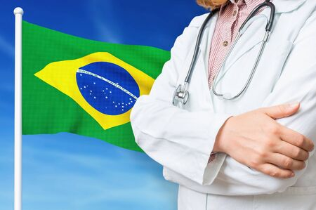 Medical system of health care in the Brazil. 3D rendered illustration.