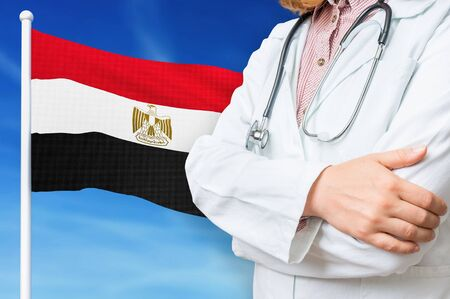 Medical system of health care in the Egypt. 3D rendered illustration.