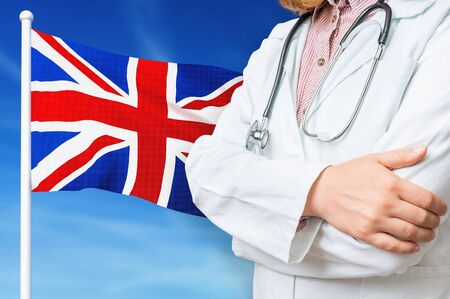 Medical system of health care in the United Kingdom. 3D rendered illustration. Stockfoto