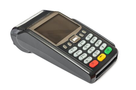 Payment terminal isolated on white background