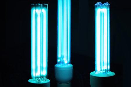 UVC lamp for sterilization prevention concept
