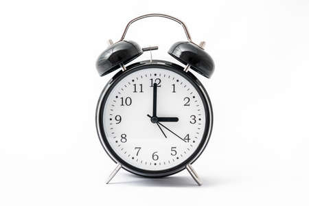 Alarm clock with double bell - winter time and summer time concept Stok Fotoğraf