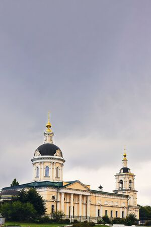 Archangel Michael Orthodox Church in Kolomna, city Golden Ring of Russia. Vertical with copy space. Sightseeing, History, travelling, religion, architecture