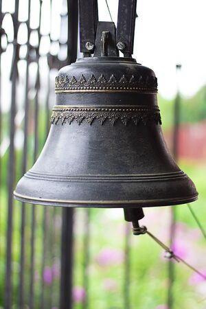 Beautiful Ancient Church Bells on the defocused background. Religion, Orthodox, Culture, Horizontal, Selective focus