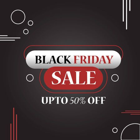 black friday sale in dark theme for your product boost sale 向量圖像