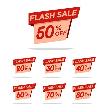 fflash sale tag discount pack for your promotion sales. website sales template. online shop. material. sales background. badge discount pack