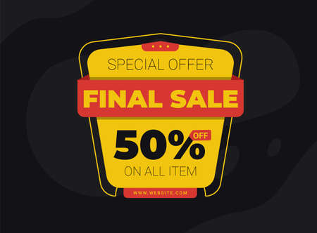 final sale banckground discount 50% off for your product promotion theme template