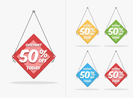 discount label template set premium vector with different color style for your product promotion template