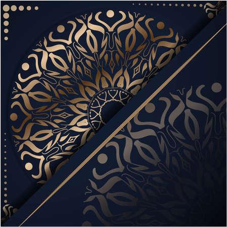 Luxury mandala background with golden arabesque pattern, Ornamental Background . Wedding card, Cover.
