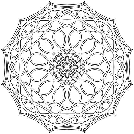 Adult coloring book,page a zen mandala image for relaxing