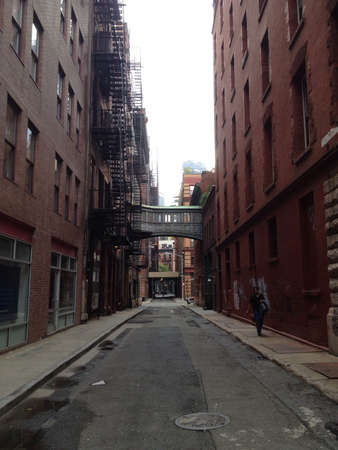 city alley: An alley in TriBeCa Manhattan NYC.  Stock Photo