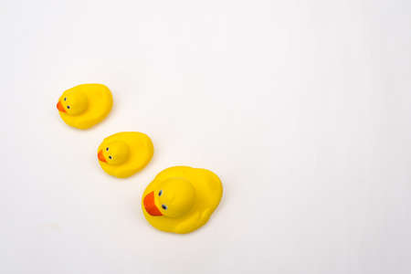 Yellow rubber duck isolated on white background Zdjęcie Seryjne