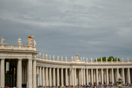 Right Wing of Saint Peters Square, Vatican, Italy