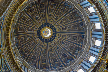 The Dome of St. Peters Basilica, Vatican, Italy