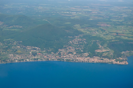 The earth and the Adriatic sea seen from above