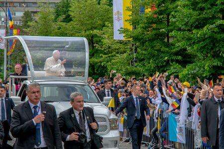 Iasi, Romania - May 2019: Pope Francis