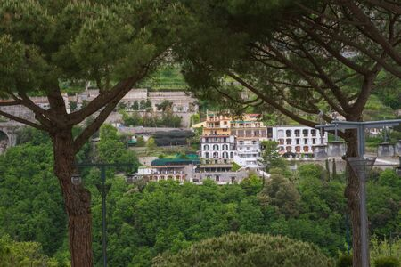Beautiful view  seen from Duomo Square, Ravello, Amalfi Coast, Italy