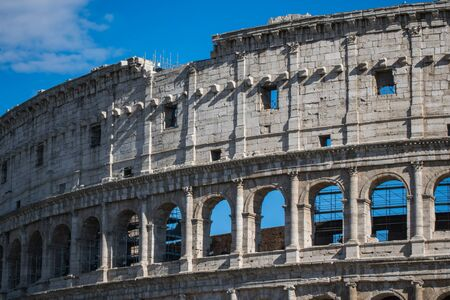 Close up view of Colosseum, Rome, Italy Stok Fotoğraf