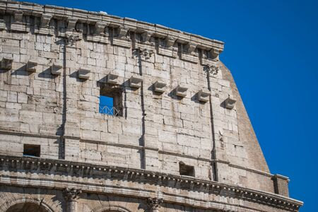 Close up view of Colosseum, Rome, Italy Banco de Imagens
