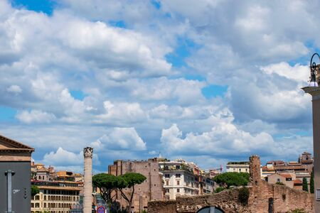 Landscape of the ruins from the Roman Forum, Rome, Italy Banco de Imagens - 130818708