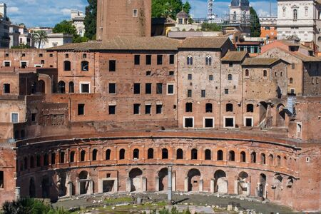 Trajan's Market, Roman Forum, Rome, Italy Banco de Imagens - 130818713