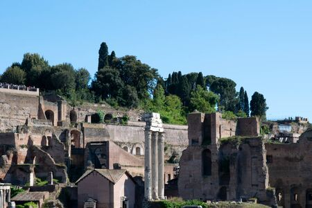 Landscape of the ruins from the Roman Forum, Rome, Italy Banco de Imagens - 130818714