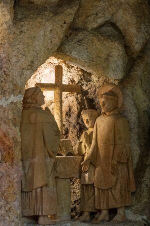 The Church of the Immaculate Conception, Greccio, Italy Standard-Bild - 130818746