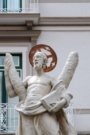 St Andrew Fountain, Amalfi Coast, Piazza del Duomo, Italy Banco de Imagens - 130818768