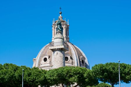 The Church of the Most Holy Name of Mary at the Trajan Forum or Santissimo Nome di Maria al Foro Traiano Stock Photo