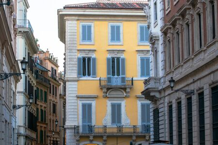 Beautiful buildings from the lovely Rome, Italy Banco de Imagens