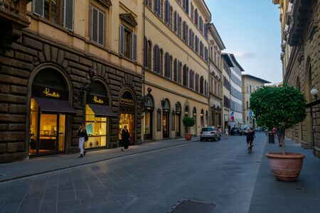 The beautiful streets of Florence, Tuscany, Italy Banco de Imagens