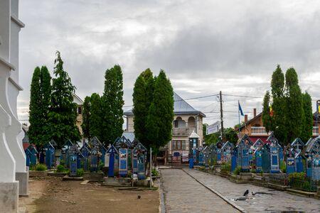 The entrance to the Merry Cemetery, Sapanta, Romania