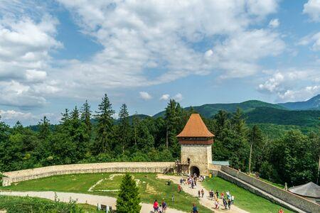 The archers' tower Bathory, Rasnov Citadel, Brasov, Romania