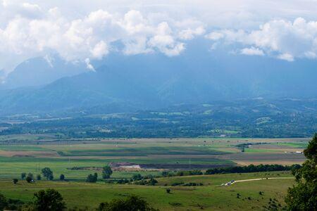 A beautiful landscape near the Zarnesti Bear Reserve, Brasov, Romania