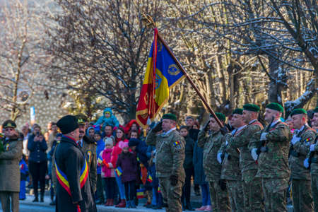 Romanian soldiers at the December 1 parade from Vatra Dornei Editorial