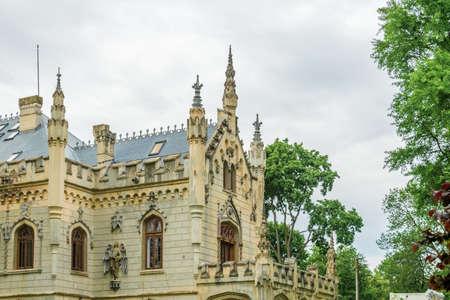 The right side of the Sturdza castle in Miclauseni, Romania Editorial