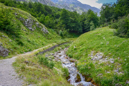 River crossing the Gran Sasso Mountains, Teramo province, Abruzzo region, Italy