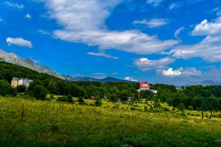 Gran Sasso mountains chain, Prati de Tivo, Teramo Province, Abruzzo Region, Italy Foto de archivo - 155036149