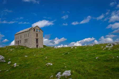 National Park Gran Sasso in Prati di Tivo - Landscape, Teramo province, Abruzzo region, Italy Foto de archivo