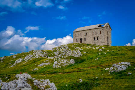 National Park Gran Sasso in Prati di Tivo - Landscape, Teramo province, Abruzzo region, Italy Foto de archivo - 155036200