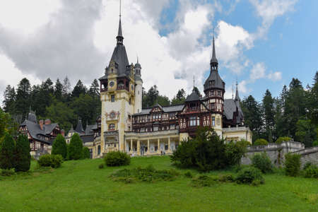 The Beautiful Peles Castle, Sinaia, Prahova, Romania