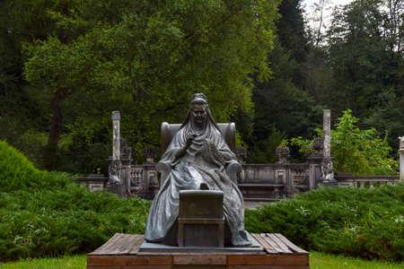 Queen Elisabeta Carmen Sylva statue from Peles Castle, Sinaia, Prahova, Romania
