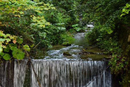 Waterfall on the way to Peles Castle, Sinaia, Romania